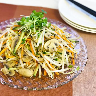 マッシュルームともやしの中華サラダ