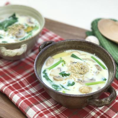 マッシュルームの豆乳スープ