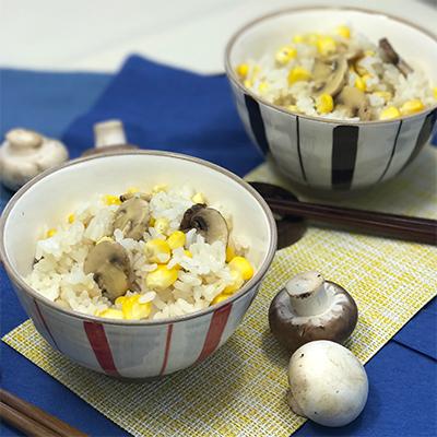 マッシュ&トウモロコシの炊き込みご飯