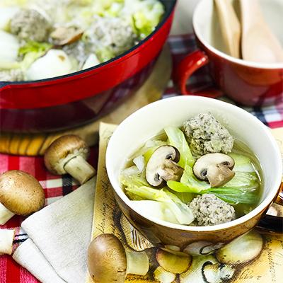マッシュ入り肉団子と白菜のごちそうスープ