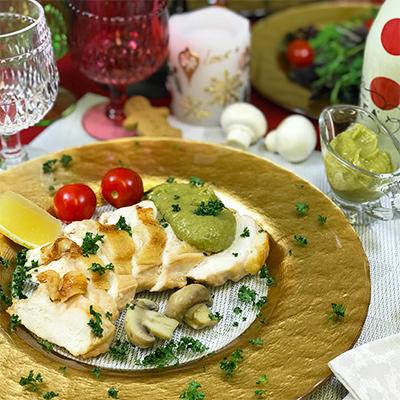 照り焼きチキン&マッシュ&アボカドのコラボソース