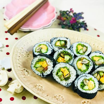 マッシュと野菜の変わりW巻き寿司