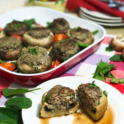 ジャンボマッシュルームの肉詰め