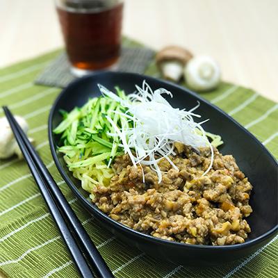 マッシュルーム入りジャージャー麺