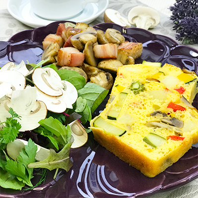 マッシュと野菜のケークサレプレート