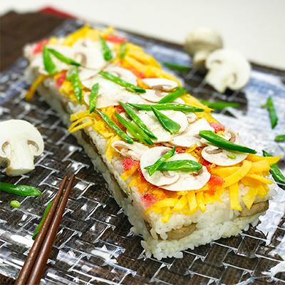 マッシュルームの押し寿司